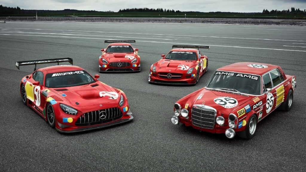 بالصور .. شاهد احتفال شركة مرسيدس بالذكرى الـ50 لانتصارها في سباقات Spa-Francorchamps